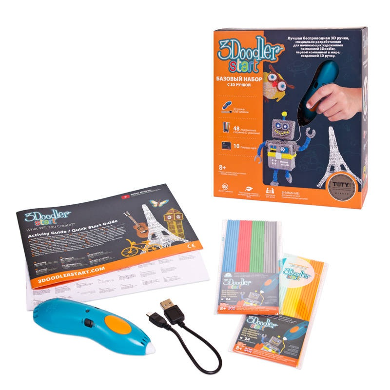 Базовый набор с 3D-ручкой 3Doodler Start3D ручки<br>Базовый набор с 3D-ручкой 3Doodler Start<br>
