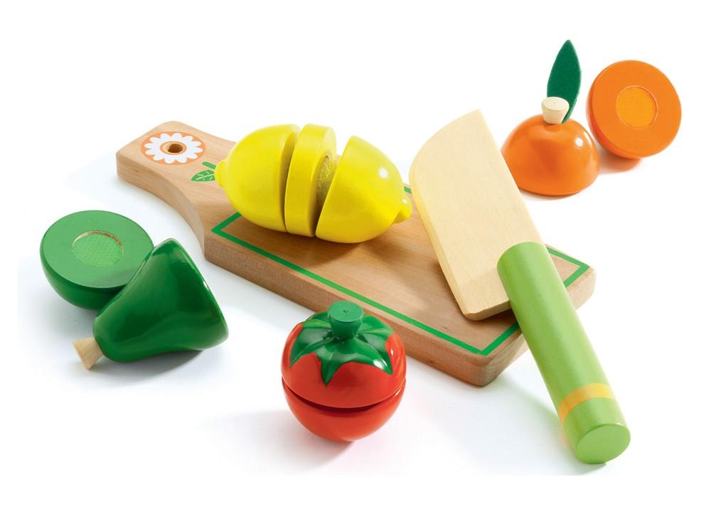 Купить Набор для разрезания - Фрукты и овощи, Djeco