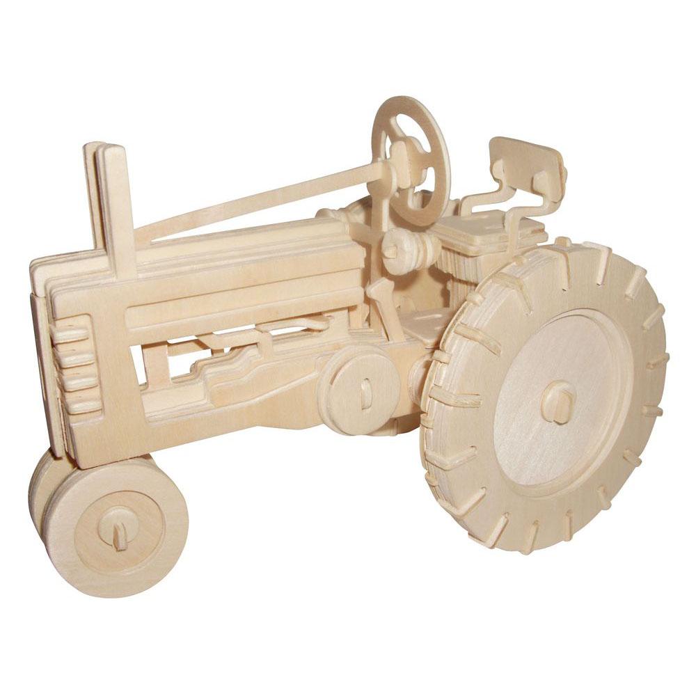 Модель деревянная сборная - Трактор фермерскийПазлы объёмные 3D<br>Модель деревянная сборная - Трактор фермерский<br>