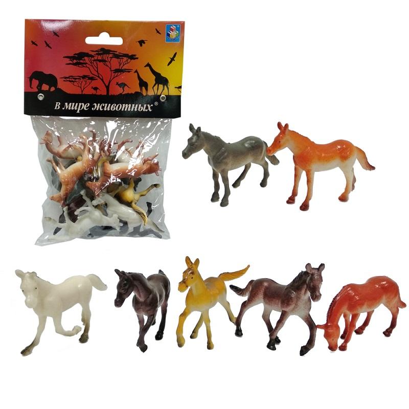Купить Набор фигурок из серии В мире животных – 12 лошадей, 5 см., 1TOY