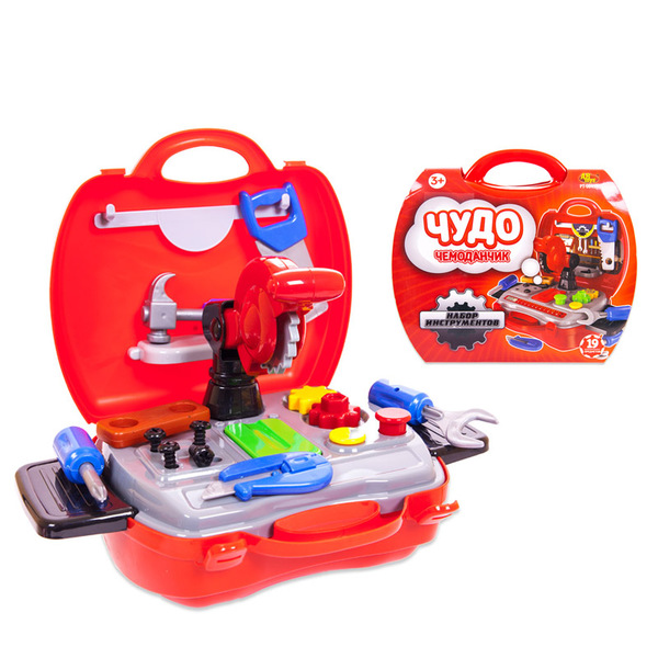 Набор инструментов  Чудо-чемоданчик, 19 предметов - Детские мастерские, инструменты, артикул: 151489
