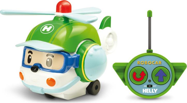 Радиоуправляемый вертолет Хэли, свет фар, сирена на крыше и звук сирены - Robocar Poli. Робокар Поли и его друзья, артикул: 99683