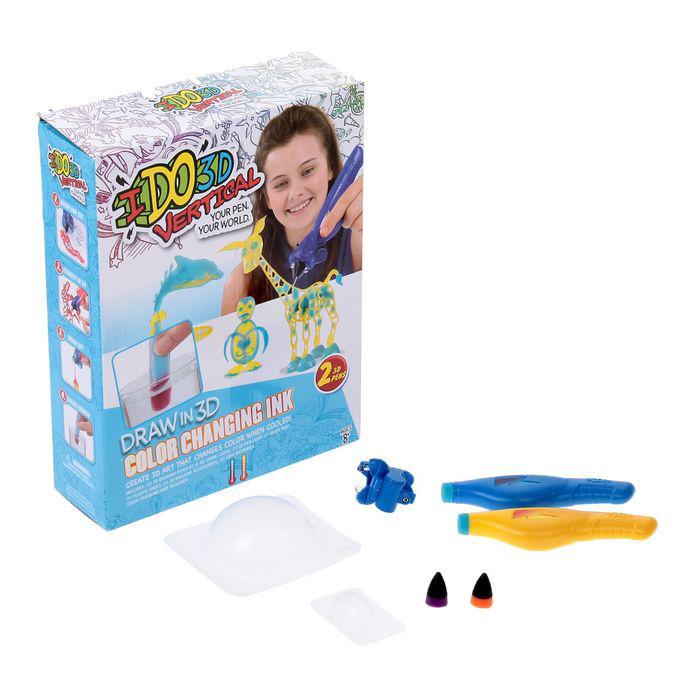 Ручка 3D – Вертикаль: Магия цвета, 2 шт. - Детский 3D принтер QIXELS, артикул: 165465