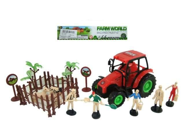 Купить Инерционный трактор с аксессуарами, 18 предметов, JUNFA TOYS
