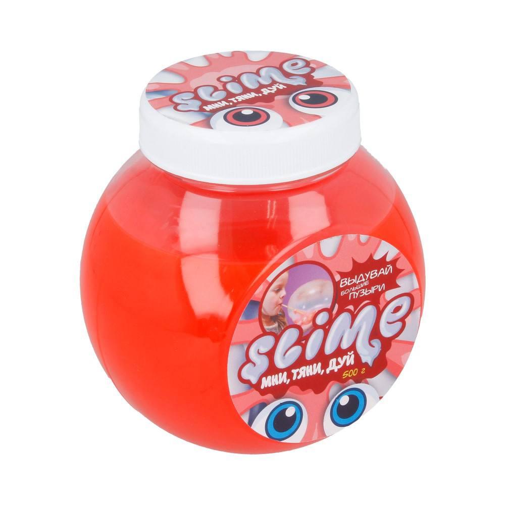 Купить Лизун Slime Mega Mix, прозрачный + красный 500 г, Волшебный мир