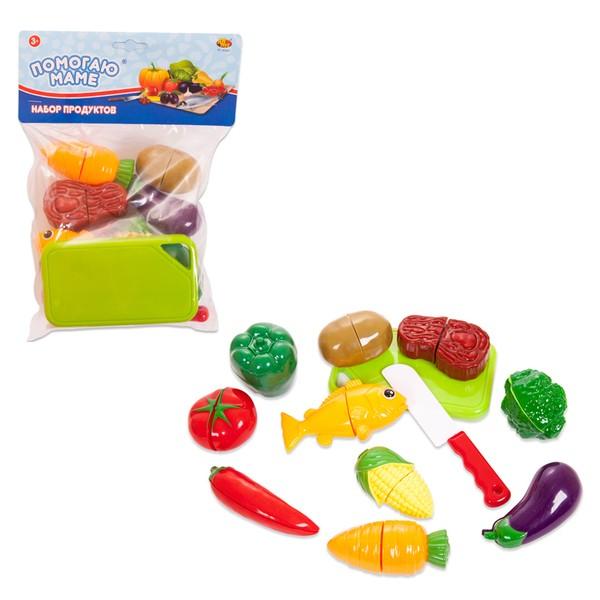 Помогаю Маме. Набор продуктов для резки на липучках, 22 предметаАксессуары и техника для детской кухни<br>Помогаю Маме. Набор продуктов для резки на липучках, 22 предмета<br>