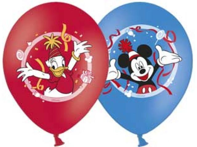 Шарик надувной Disney - Микки Маус 1 штука, 3 цвета, 35 см