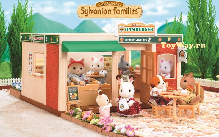 Sylvanian Families Ресторан ГамбургерДома и Рестораны<br>Sylvanian Families Ресторан Гамбургер<br>