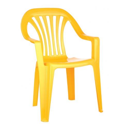 Купить Стул детский желтый, Бытпласт
