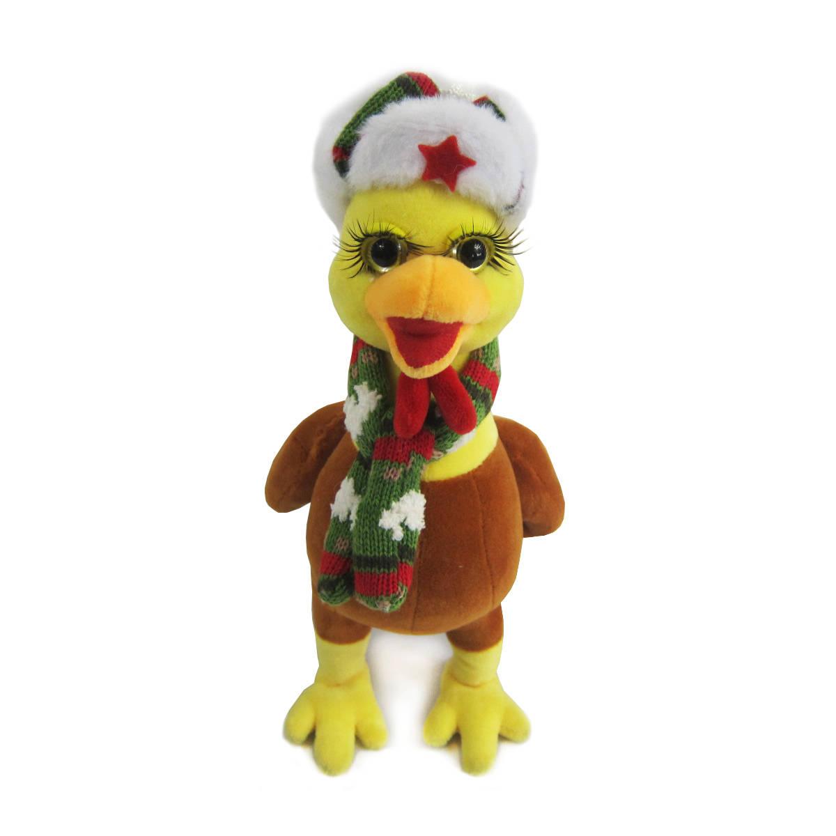 Мягкая игрушка - Петушок в шапке и шарфе, 25 см.Животные<br>Мягкая игрушка - Петушок в шапке и шарфе, 25 см.<br>