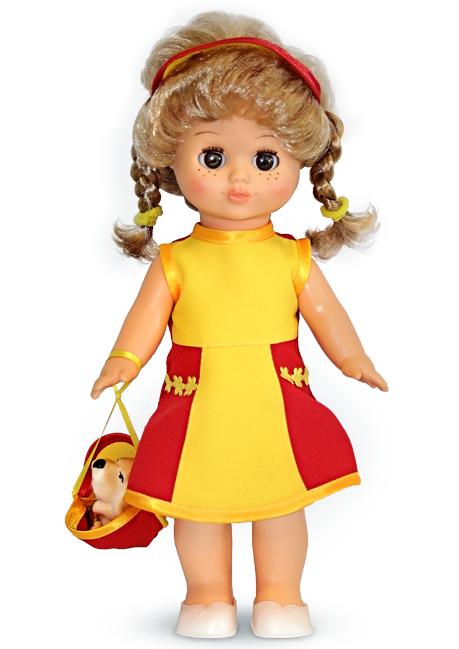 Озвученная кукла Настя 5 с собачкой, 30 смРусские куклы фабрики Весна<br>Озвученная кукла Настя 5 с собачкой, 30 см<br>