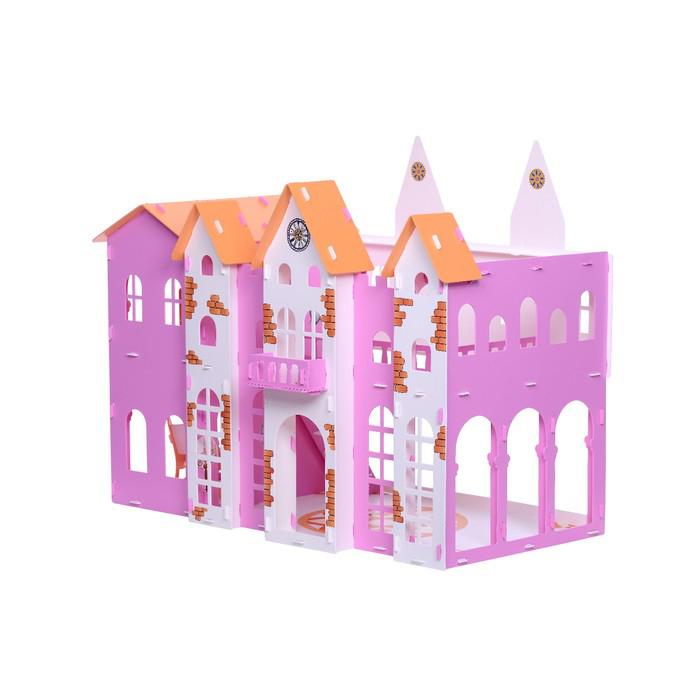 Домик с мебелью для кукол - Замок Джульетты, бело-розовый