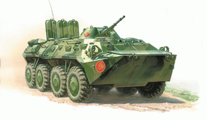 Модель для склеивания - Советский БТР-80Модели автомобилей для склеивания<br>Модель для склеивания - Советский БТР-80<br>