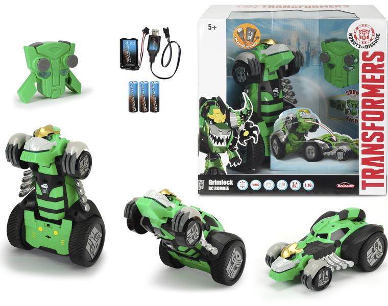 Машинка-трансформер из серии Трансформеры - Grimlock на радиоуправлении, 1:16Игрушки трансформеры<br>Машинка-трансформер из серии Трансформеры - Grimlock на радиоуправлении, 1:16<br>