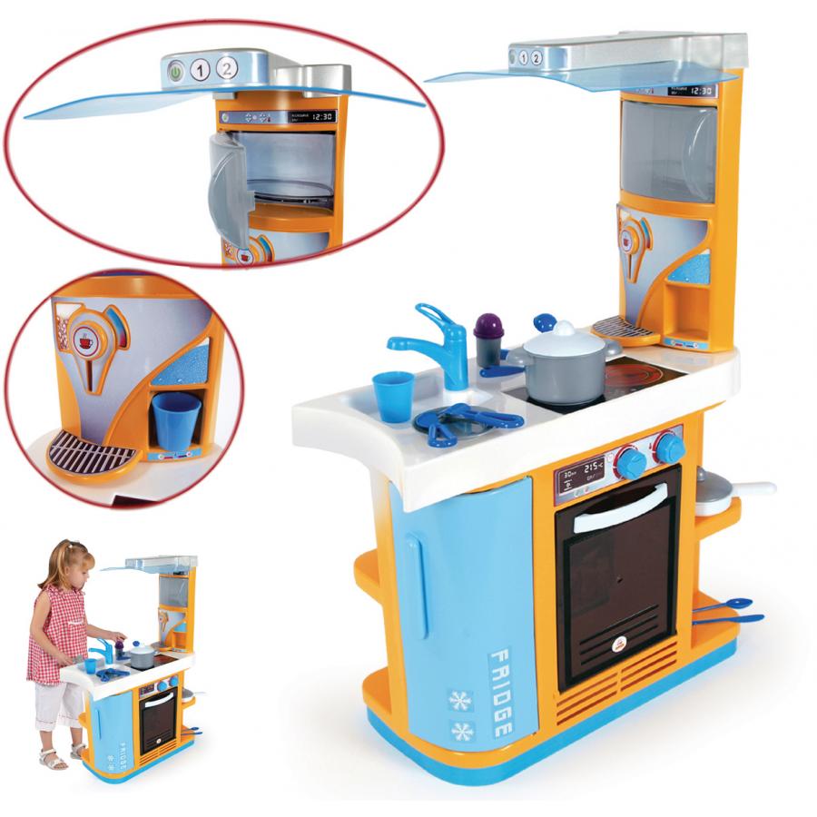 Игровая кухня большая с бытовой техникой и посудой, высота 82,5 см.Детские игровые кухни<br>Игровая кухня большая с бытовой техникой и посудой, высота 82,5 см.<br>