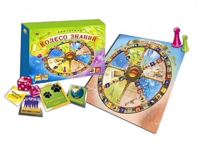 Игра настольная карточная Викторина - Колесо ЗнанийВикторины<br>Игра настольная карточная Викторина - Колесо Знаний<br>