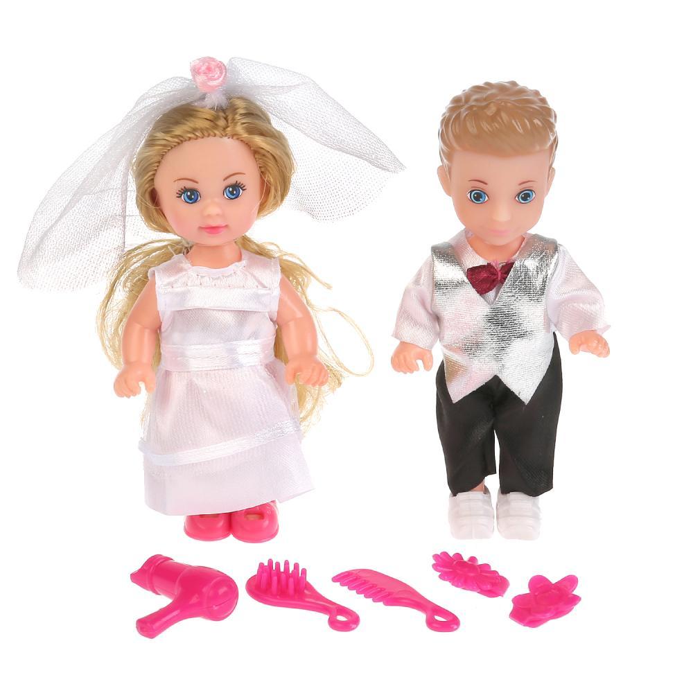 Купить Набор из 2-х кукол - Жених и невеста - Машенька и Сашенька, 12 см, Карапуз