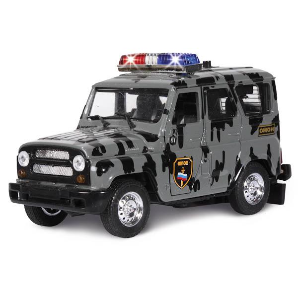 Машина металлическая инерционная - УАЗ - ОМОН с сиреной и мигалкамиУАЗ<br>Машина металлическая инерционная - УАЗ - ОМОН с сиреной и мигалками<br>