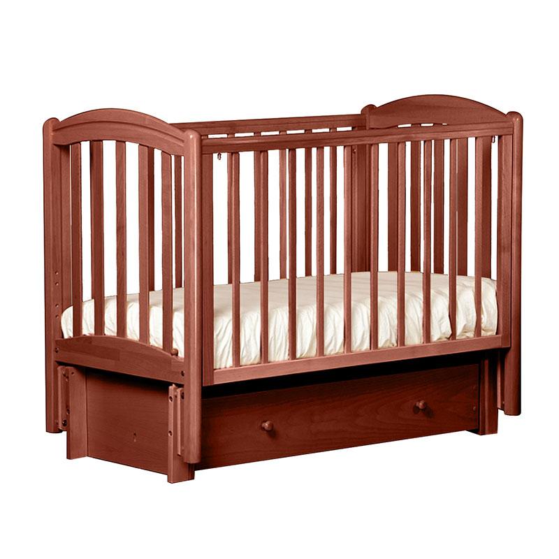 Кровать детская Лель БИ 09.3 Василек маятник продольный, орех