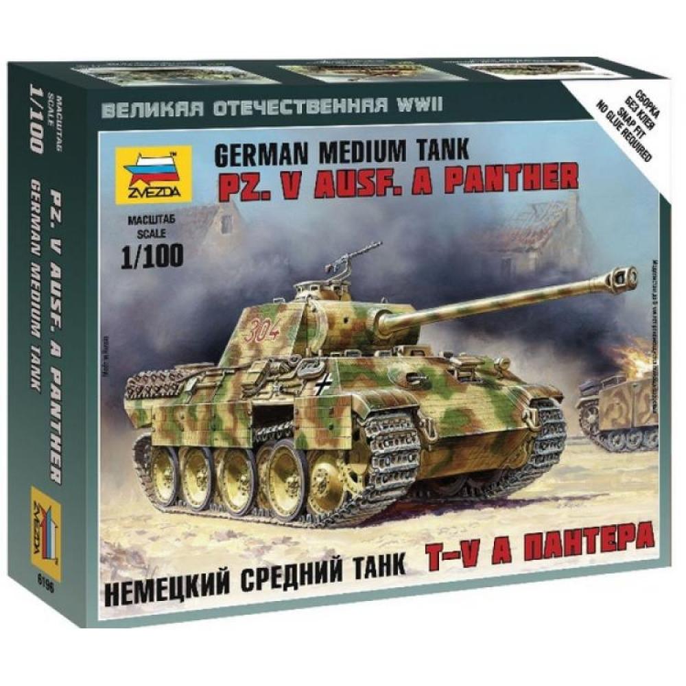 Модель сборная - Немецкий средний танк Т-V - ПантераМодели танков для склеивания<br>Модель сборная - Немецкий средний танк Т-V - Пантера<br>