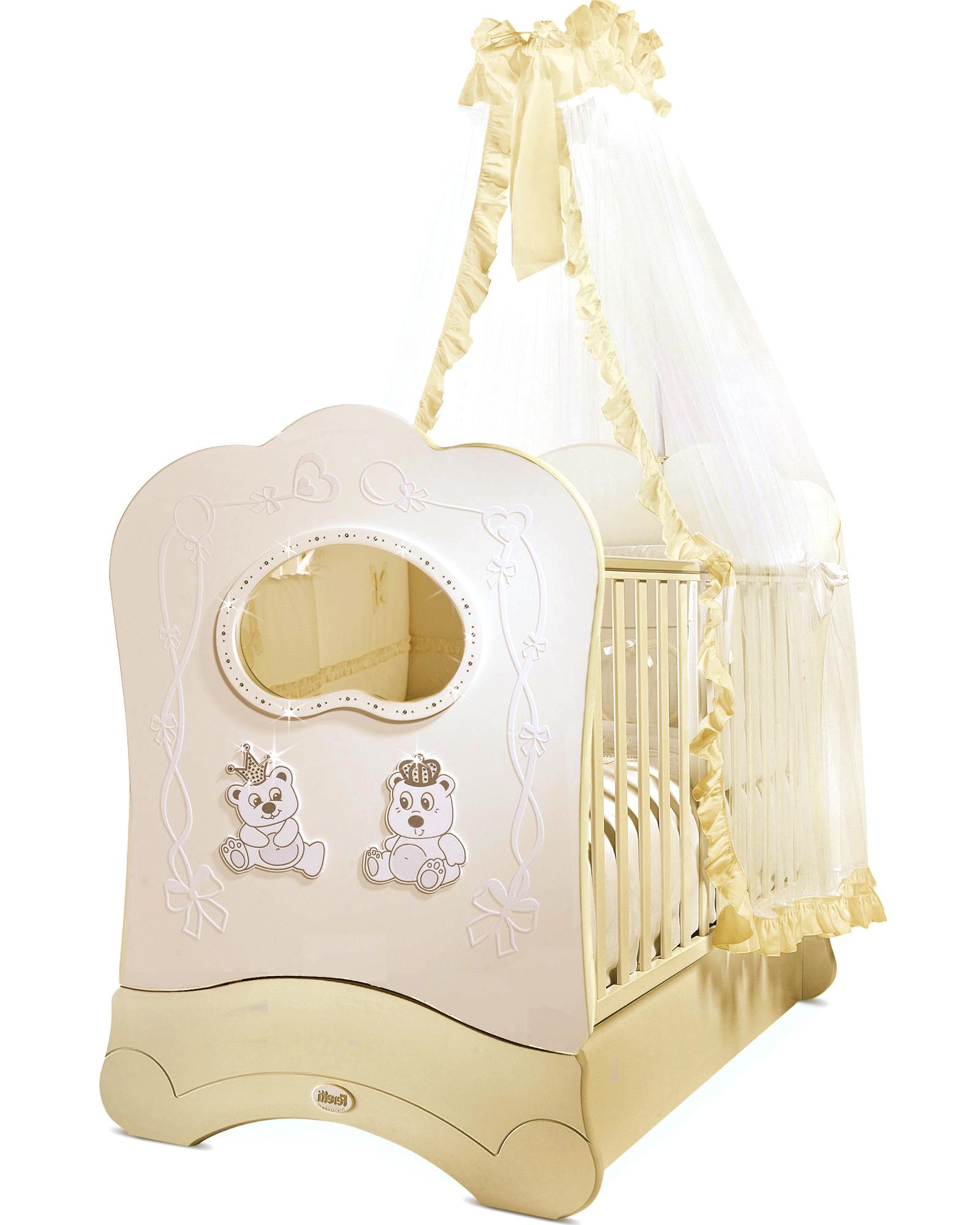 Кровать детская Feretti Fms Oblo Majesty Brillante Avorio/IvoryДетские кровати и мягкая мебель<br>Кровать детская Feretti Fms Oblo Majesty Brillante Avorio/Ivory<br>