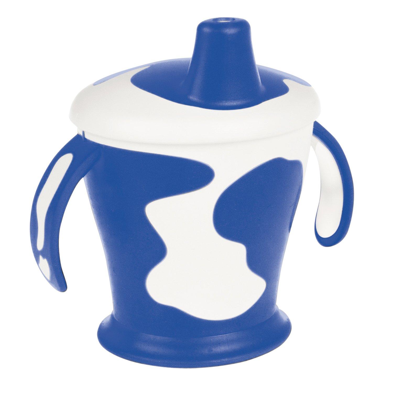 Чашка-непроливайка с ручками - Little cow, 250 мл, 9+, синий