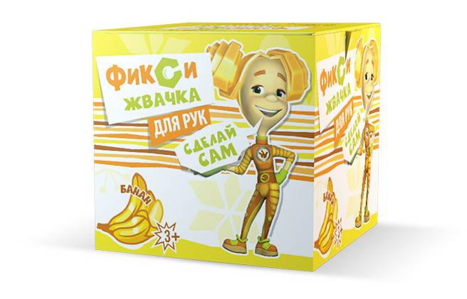 Набор для экспериментов из серии Фикси-опыты - Жвачка для рук Банан