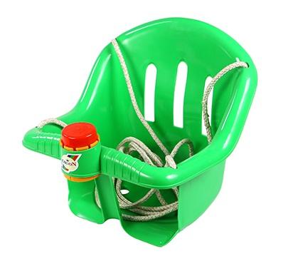 Качели с барьером безопасности и клаксоном зеленого цвета - Качели, артикул: 159669