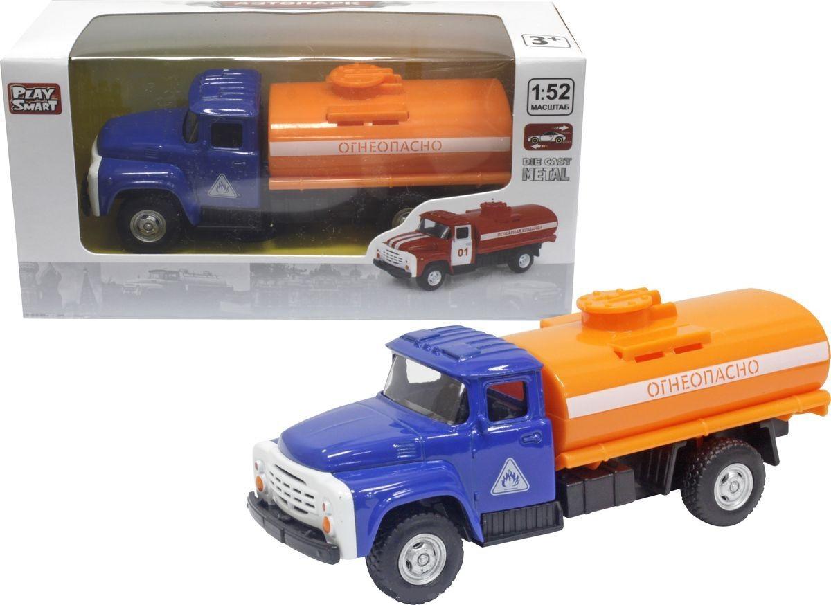Купить Инерционный металлический грузовик – Огнеопасно, красный, масштаб 1:52, Play Smart
