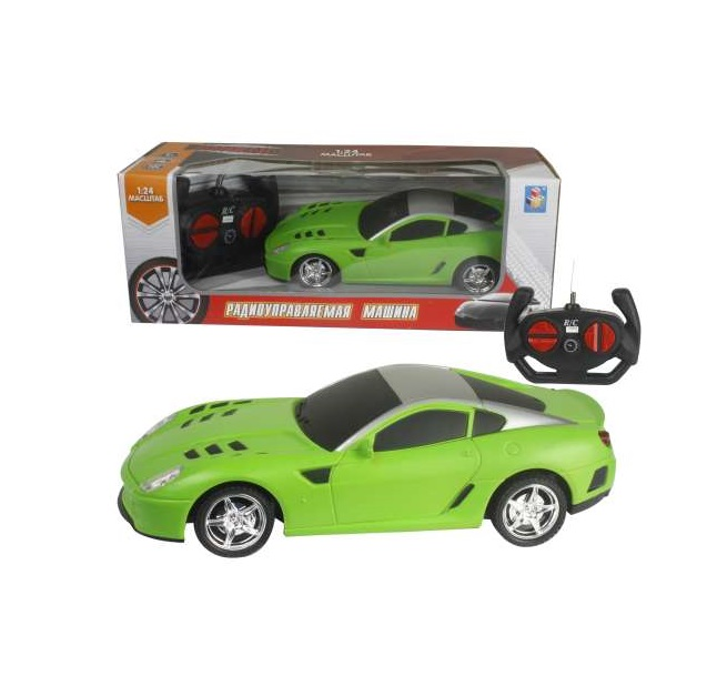 картинка Спортавто Машина на радиоуправлении, 1:24, 27 МГц, 20 см, 4 канала, на батарейках, матовый зеленый от магазина Bebikam.ru