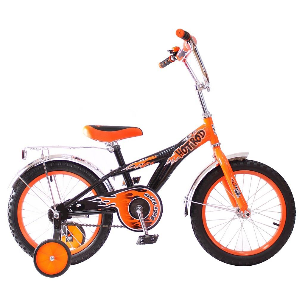 RT Двухколесный велосипед Hot-Rod, диаметр колес 14 дюймов, оранжевый