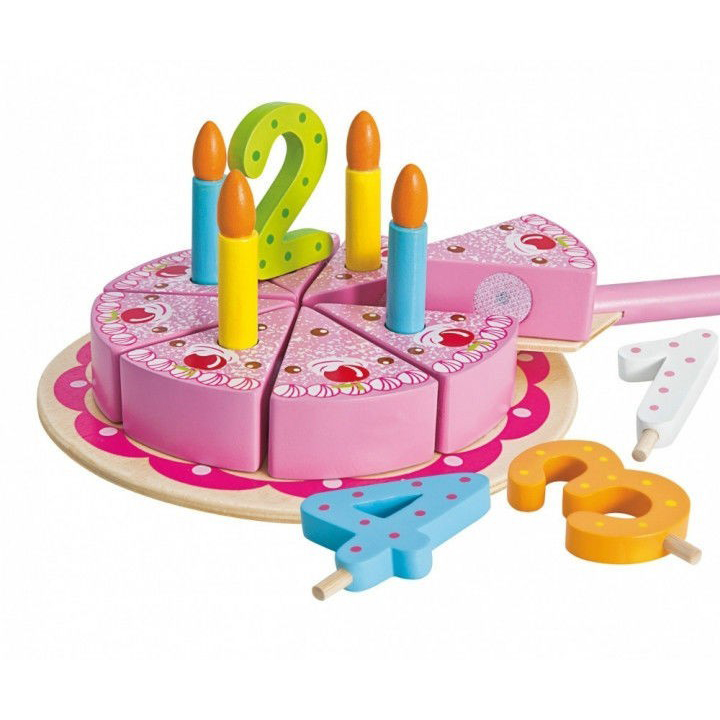 Игровой набор - Праздничный торт, 18 предметовАксессуары и техника для детской кухни<br>Игровой набор - Праздничный торт, 18 предметов<br>