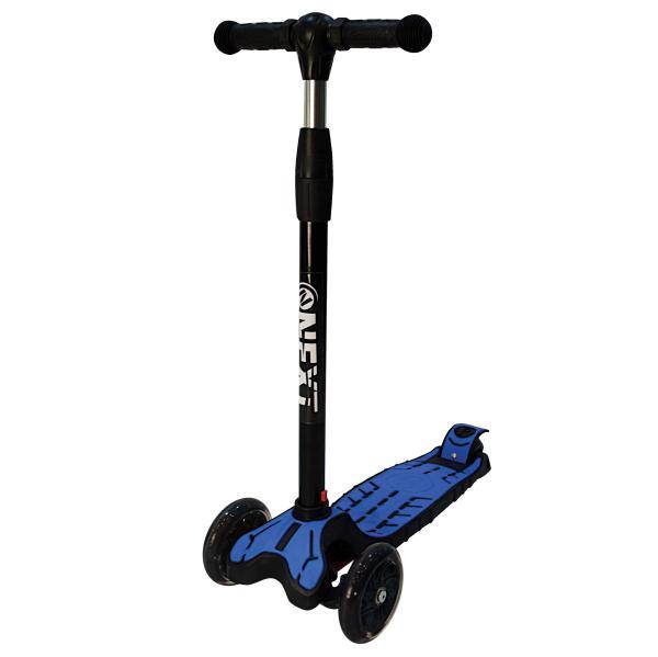 Трехколесный самокат – Next, светящиеся колеса 12 и 7,6 см, синийТрехколесные самокаты<br>Трехколесный самокат – Next, светящиеся колеса 12 и 7,6 см, синий<br>