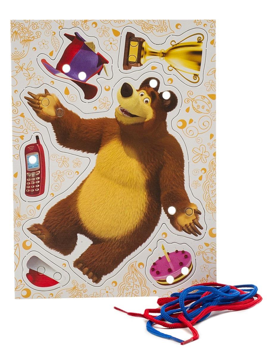 Купить Игра-шнуровка «Маша и медведь» - Мишка, Росмэн