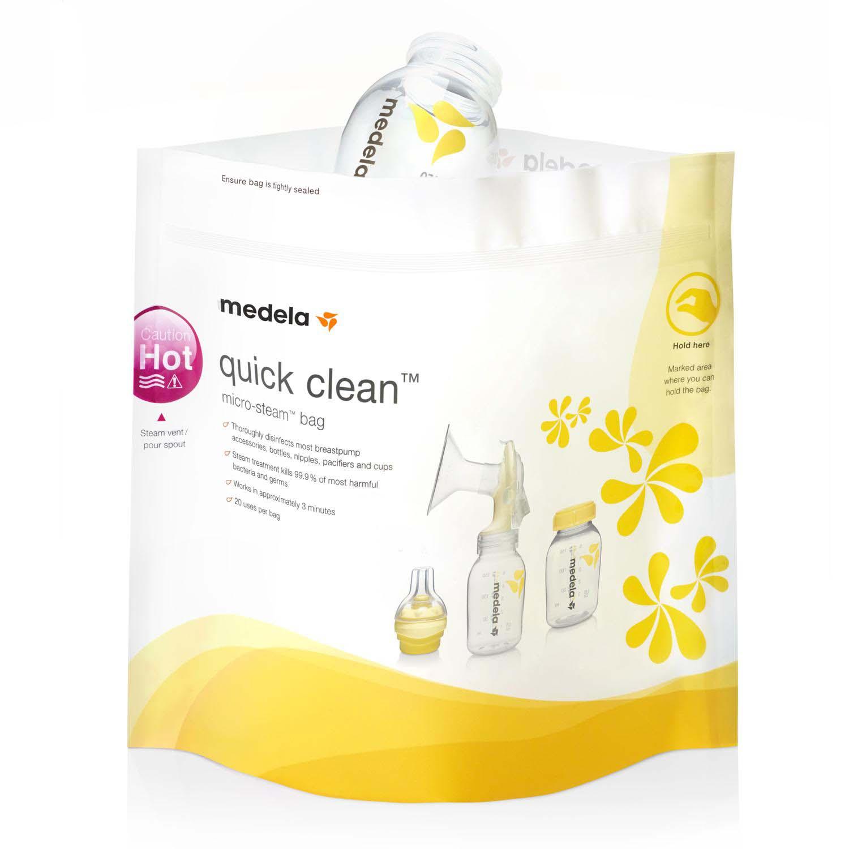 Пакеты для стерилизации в микроволновой печи - Quick Clean, 5 штук