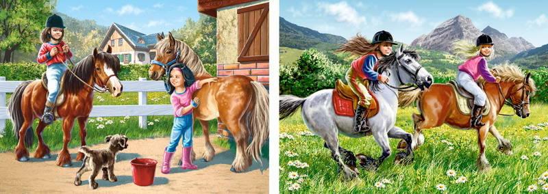 Пазл Castorland 165*240 деталей, Верхом на лошадиПазлы<br>Пазл Castorland 165*240 деталей, Верхом на лошади<br>