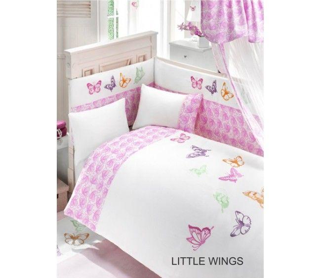 Комплект постельного белья из 3 предметов серия Little WingsДетское постельное белье<br>Комплект постельного белья из 3 предметов серия Little Wings<br>