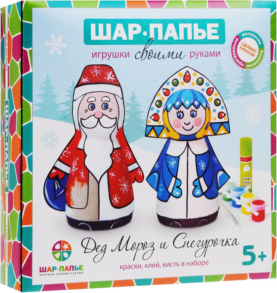 Набор Шар-Папье - Дед Мороз и СнегурочкаПАПЬЕ-МАШЕ<br>Набор Шар-Папье - Дед Мороз и Снегурочка<br>