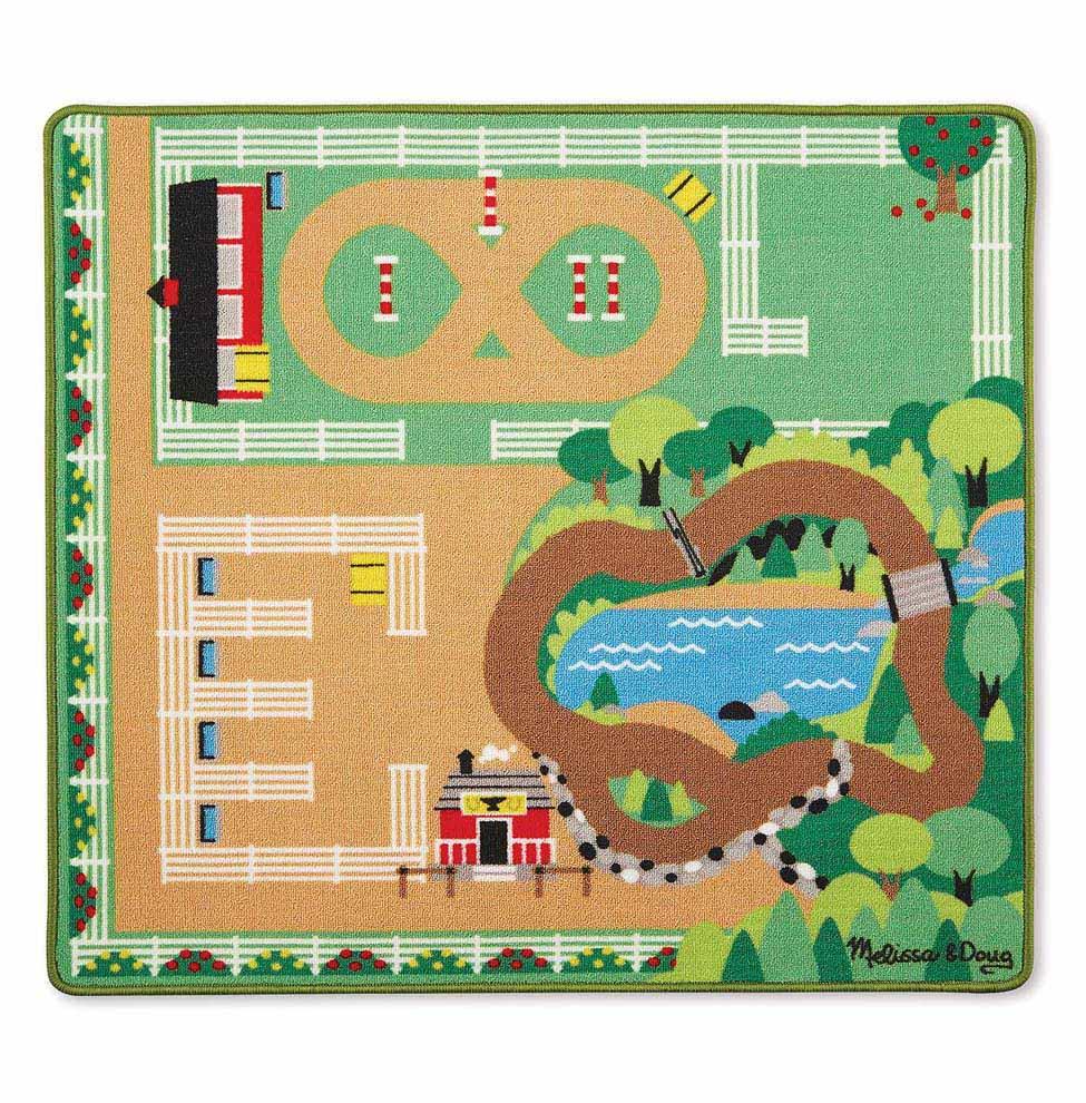 Игровой коврик Ранчо, размер 98 х 84 см.Игровые наборы Зоопарк, Ферма<br>Игровой коврик Ранчо, размер 98 х 84 см.<br>