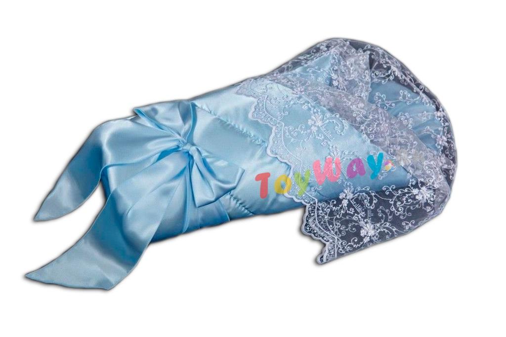 Комплект на выписку – Воздушный, весна - Э2004, голубойКомплекты на выписку<br>Комплект на выписку – Воздушный, весна - Э2004, голубой<br>