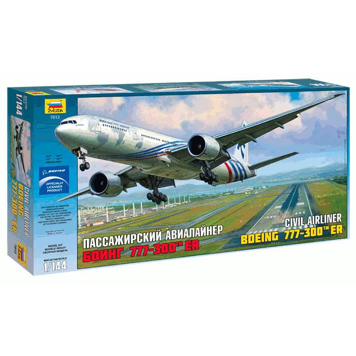 Модель сборная - Пассажирский авиалайнер Боинг-777-300ERМодели самолетов для склеивания<br>Модель сборная - Пассажирский авиалайнер Боинг-777-300ER<br>