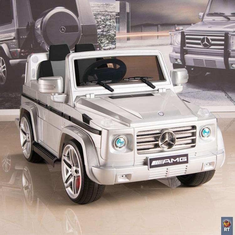Электромобиль DMD-G55 Mercedes-Benz AMG NEW Version 12V R/C silver с резиновыми колесамиЭлектромобили, детские машины на аккумуляторе<br>Электромобиль DMD-G55 Mercedes-Benz AMG NEW Version 12V R/C silver с резиновыми колесами<br>