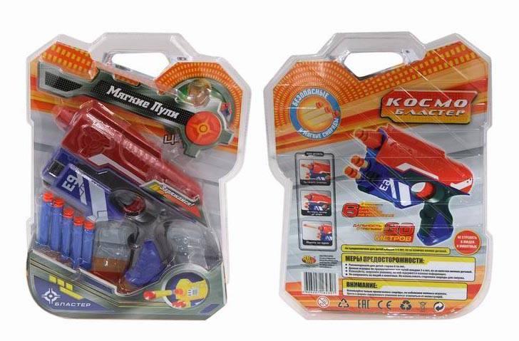 Космобластер, в наборе с 5 мягкими снарядамиАвтоматы, пистолеты, бластеры<br>Космобластер, в наборе с 5 мягкими снарядами<br>