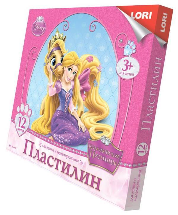 Пластилин Disney - Королевские питомцы, 12 цветовНаборы для лепки<br>Пластилин Disney - Королевские питомцы, 12 цветов<br>
