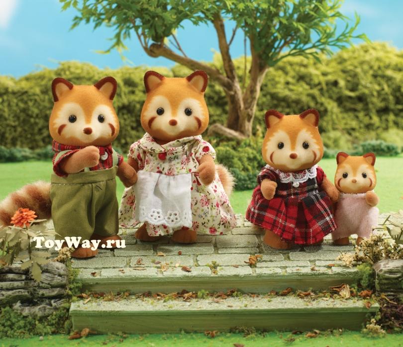 Набор Семья Красных ПандСемьи и малыши<br>Набор Семья Красных Панд<br>