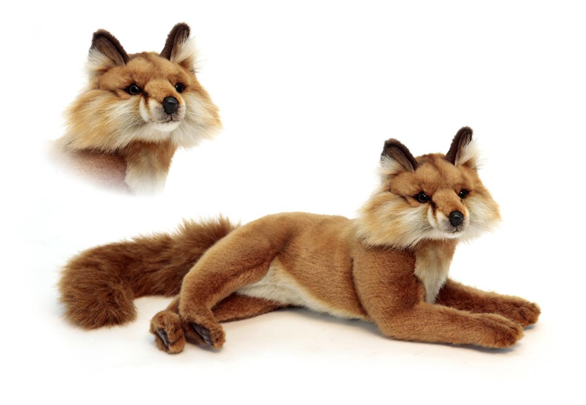 Красная лиса лежащая, 40 смДикие животные<br>Красная лиса лежащая, 40 см<br>
