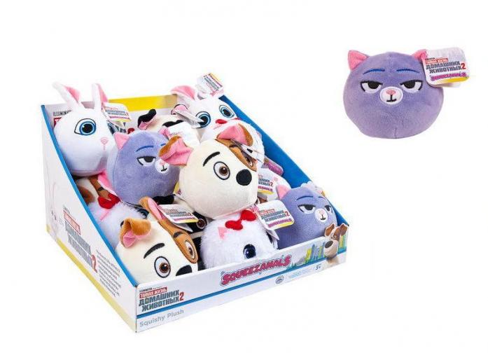 Купить Squeezamals, серия Тайная жизнь домашних животных 2, кошка Хлоя, 9 см, Beverly Hills Teddy Bear