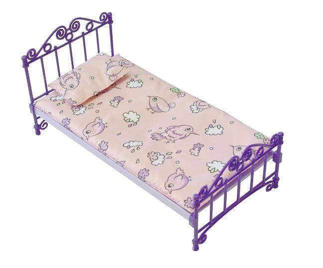 Кроватка фиолетоваяКукольные домики<br>Кроватка фиолетовая<br>