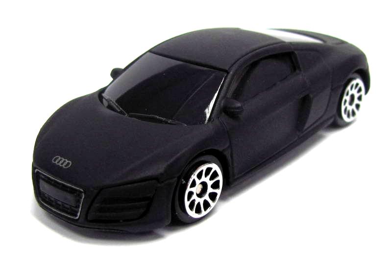 Купить Машина металлическая Audi R8 V10, черный матовый цвет, 1:64, RMZ City
