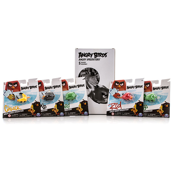 Игрушка из серии «Angry Birds» - набор из 5 птичек на колесахAngry Birds<br>Игрушка из серии «Angry Birds» - набор из 5 птичек на колесах<br>